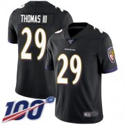 Wholesale Cheap Nike Ravens #29 Earl Thomas III Black Alternate Men's Stitched NFL 100th Season Vapor Limited Jersey
