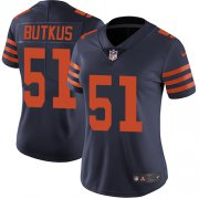 Wholesale Cheap Nike Bears #51 Dick Butkus Navy Blue Alternate Women's Stitched NFL Vapor Untouchable Limited Jersey