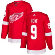 Wholesale Cheap Adidas Red Wings #9 Gordie Howe Red Home Authentic Stitched Youth NHL Jersey