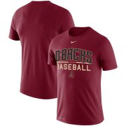 Wholesale Cheap Arizona Diamondbacks Nike Practice Performance T-Shirt Red