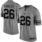 Wholesale Cheap Nike Giants #26 Saquon Barkley Gray Men's Stitched NFL Limited Gridiron Gray Jersey