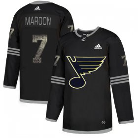 Wholesale Cheap Adidas Blues #7 Patrick Maroon Black Authentic Classic Stitched NHL Jersey