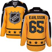 Wholesale Cheap Senators #65 Erik Karlsson Yellow 2017 All-Star Atlantic Division Stitched Youth NHL Jersey