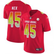 Wholesale Cheap Nike Steelers #45 Roosevelt Nix Red Men's Stitched NFL Limited AFC 2018 Pro Bowl Jersey