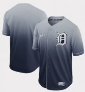 Wholesale Cheap Nike Tigers Blank Navy Fade Authentic Stitched MLB Jersey