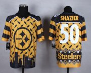 Wholesale Cheap Nike Steelers #50 Ryan Shazier Gold Men's Stitched NFL Elite Noble Fashion Jersey