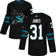 Wholesale Cheap Adidas Sharks #31 Martin Jones Black Alternate Authentic Stitched Youth NHL Jersey