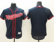Wholesale Twins Blank Navy Blue Flexbase Authentic Collection Stitched Baseball Jersey