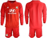 Wholesale Cheap Lyon Blank Red Goalkeeper Long Sleeves Soccer Club Jersey
