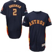 Wholesale Cheap Astros #2 Alex Bregman Navy Blue FlexBase Authentic 2018 Gold Program Cool Base Stitched MLB Jersey