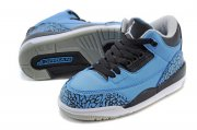 Wholesale Cheap Air Jordan 3 Kids Powder Blue Powder Blue/black