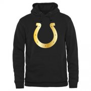 Wholesale Cheap Men's Indianapolis Colts Pro Line Black Gold Collection Pullover Hoodie