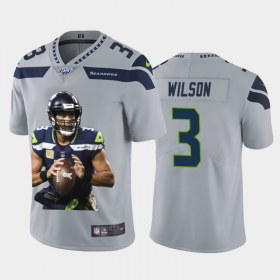 Cheap Seattle Seahawks #3 Russell Wilson Nike Team Hero Vapor Limited NFL Jersey Grey