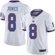 Wholesale Cheap Nike Giants #8 Daniel Jones White Men's Stitched NFL Limited Rush Jersey