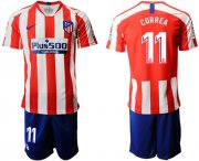 Wholesale Cheap Atletico Madrid #11 Correa Home Soccer Club Jersey