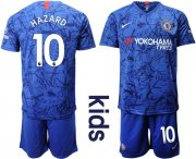 Wholesale Cheap Chelsea #10 Hazard Blue Home Kid Soccer Club Jersey