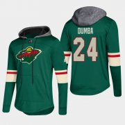Wholesale Cheap Wild #24 Matt Dumba Green 2018 Pullover Platinum Hoodie