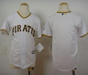 Wholesale Cheap Pirates Blank White Cool Base Stitched Youth MLB Jersey
