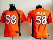 Wholesale Cheap Nike Broncos #58 Von Miller Orange Team Color Youth Stitched NFL Elite Jersey