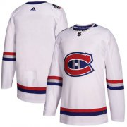 Wholesale Cheap Adidas Canadiens Blank White Authentic 2017 100 Classic Stitched NHL Jersey