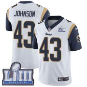 Wholesale Cheap Nike Rams #43 John Johnson White Super Bowl LIII Bound Men's Stitched NFL Vapor Untouchable Limited Jersey