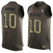 Wholesale Cheap Nike Texans #10 DeAndre Hopkins Green Men's Stitched NFL Limited Salute To Service Tank Top Jersey