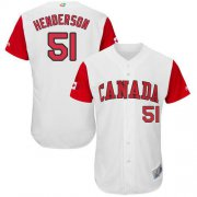 Wholesale Cheap Team Canada #51 Jim Henderson White 2017 World MLB Classic Authentic Stitched MLB Jersey