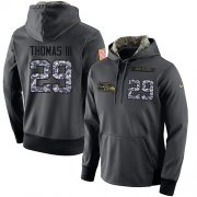 Wholesale Cheap NFL Men's Nike Seattle Seahawks #29 Earl Thomas III Stitched Black Anthracite Salute to Service Player Performance Hoodie