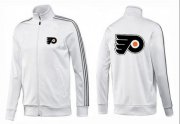 Wholesale Cheap NHL Philadelphia Flyers Zip Jackets White-1