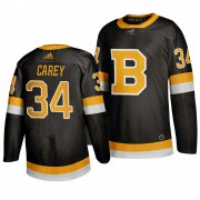 Wholesale Cheap Adidas Boston Bruins #34 Paul Carey Black 2019-20 Authentic Third Stitched NHL Jersey