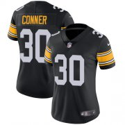 Wholesale Cheap Nike Steelers #30 James Conner Black Alternate Women's Stitched NFL Vapor Untouchable Limited Jersey