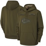 Wholesale Cheap Men's Kansas City Chiefs Nike Olive Salute to Service Sideline Therma Performance Pullover Hoodie