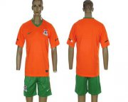 Wholesale Cheap Zambia Blank 2012/2013 Orange Home Soccer Country Jersey