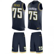 Wholesale Cheap Nike Chargers #75 Bryan Bulaga Navy Blue Team Color Men's Stitched NFL Limited Tank Top Suit Jersey