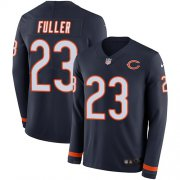 Wholesale Cheap Nike Bears #23 Kyle Fuller Navy Blue Team Color Men's Stitched NFL Limited Therma Long Sleeve Jersey