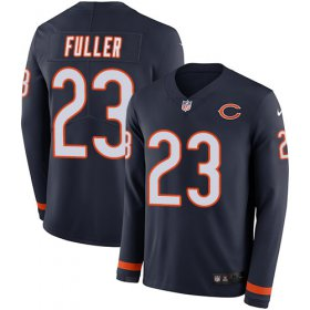 Wholesale Cheap Nike Bears #23 Kyle Fuller Navy Blue Team Color Men\'s Stitched NFL Limited Therma Long Sleeve Jersey