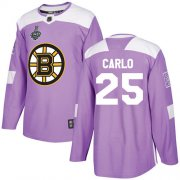 Wholesale Cheap Adidas Bruins #25 Brandon Carlo Purple Authentic Fights Cancer Stanley Cup Final Bound Stitched NHL Jersey
