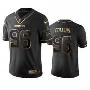 Wholesale Cheap Nike Cowboys #96 Maliek Collins Black Golden Limited Edition Stitched NFL Jersey
