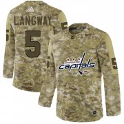 Wholesale Cheap Adidas Capitals #5 Rod Langway Camo Authentic Stitched NHL Jersey