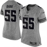 Wholesale Cheap Nike Vikings #55 Anthony Barr Gray Women's Stitched NFL Limited Gridiron Gray Jersey