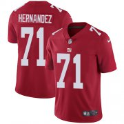 Wholesale Cheap Nike Giants #71 Will Hernandez Red Alternate Men's Stitched NFL Vapor Untouchable Limited Jersey