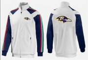 Wholesale Cheap NFL Baltimore Ravens Team Logo Jacket White_2