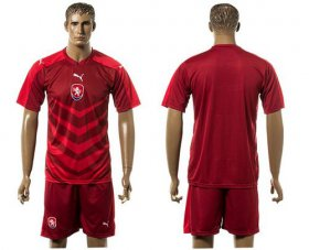 Wholesale Cheap Czech Blank Red Home Soccer Country Jersey