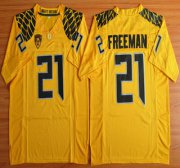 Wholesale Cheap Oregon Duck #21 Royce Freeman Yellow College Football Nike Limited Jersey