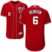 Wholesale Cheap Nationals #6 Anthony Rendon Red Flexbase Authentic Collection Stitched MLB Jersey