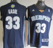 Wholesale Cheap Memphis Grizzlies #33 Marc Gasol Revolution 30 Swingman Navy Blue Jersey