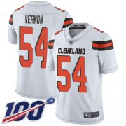 Wholesale Cheap Nike Browns #54 Olivier Vernon White Men's Stitched NFL 100th Season Vapor Limited Jersey