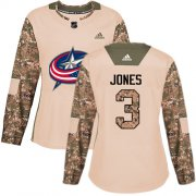 Wholesale Cheap Adidas Blue Jackets #3 Seth Jones Camo Authentic 2017 Veterans Day Women's Stitched NHL Jersey