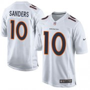 Wholesale Cheap Nike Broncos #10 Emmanuel Sanders White Men's Stitched NFL Game Event Jersey