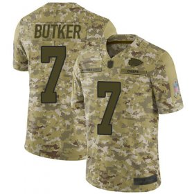 Wholesale Cheap Nike Chiefs #7 Harrison Butker Camo Men\'s Stitched NFL Limited 2018 Salute To Service Jersey